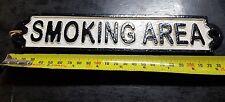 CAST IRON SMOKING AREA PLAQUE 245 MM