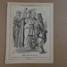 "7x10"" punch cartoon 1869 HOW NOT TO DO IT fenian prisoners"