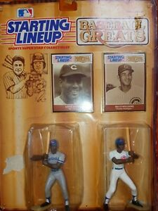 1989 KENNER STARTING LINE UP BASEBALL GREATS ERNIE BANKS & BILLY WILLIAMS