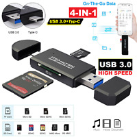 ✅USB 3.0 Speicherkartenleser Kartenleser Micro SD Card Reader Type C OTG Adapter