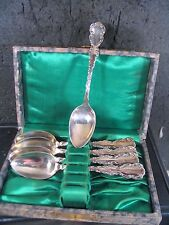 Vintage Sterling Roden Birks Canada SET  5 COFFEE SPOONS W/ BOX