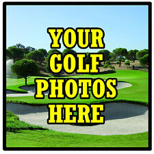 PERSONALISED COASTERS - OWN GOLF PHOTO / DESIGN - SET OF 4 COASTERS - NEW - GIFT