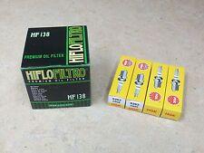 1 HIFLOFILTRO OIL FILTER + 4 NGK SPARK PLUGS SUZUKI GSXR750 GSXR 750 GSX-R750