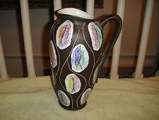 Vintage West Germany Pottery Pitcher Vase-Bodo Mans Kongo-Mid Century Modern