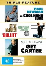 Kings Of Cool Essential Triple Pack - Cool Hand Luke / Bullitt / Get Carter (DVD, 2007, 3-Disc Set)