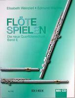 Querflöte Noten Schule : Flöte Spielen E mit CD WEINZIERL WÄCHTER