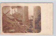 SELTEN Privat-Foto AK 1915@ Autrêches / Oise@ zerstörte Kirche@ église détruite
