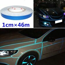 Blue Reflective Pinstripe Stripe Vinyl Tape Sticker Self-Adhesive Car 1cm x 46m