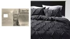 Pinched Pleat Comforter 3 Pieces Set Full/Queen Dark Gray by Threshold™