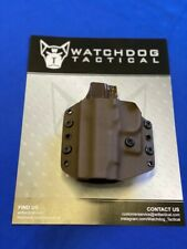 """WDT OWB/IWB Holster for Kimber 1911 4"""" w/Laser on Hand Guard ,Right-Handed,Brown"""