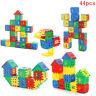 44Stk zusammengebautes Plastikhaus, Bausteinspielwaren, pädagogische SpielwYHXUI