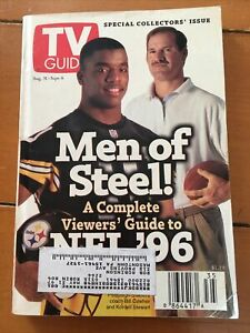 Steelers KORDELL STEWART TV GUIDE 1996 RARE Coach Bill Cowher collector Issue