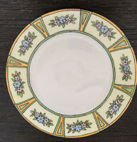 """Hand Painted O&EG Royal Austria 8"""" Plate w/Flowers Signed Margaret Craig In Gold"""