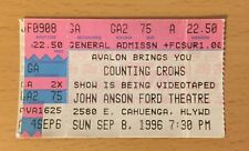 1996 Counting Crows Los Angeles Concert Ticket Stub Recovering the Satellites