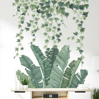 Tropical Leaves Plants Wall Stickers Vinyl Art Decal Living Room Bedroom Decor