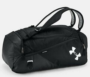 Under Armour UA MEN MEDIUM Contain Duo 2.0 Backpack Duffle BLACK SILVER NEW