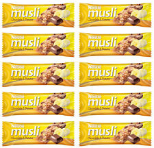 10x NESTLE Muesli Chocolate & Banana Healthy Breakfast Cereal Bars 40g 1.4oz