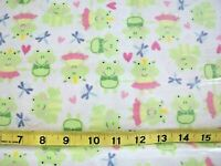 #279 New Flannel Fabric BTY ; 2 Yards (pick size) Prince Princess frog crown
