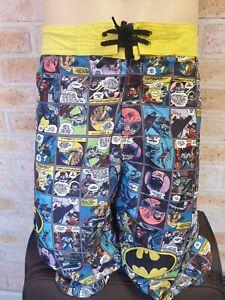 DC Comics Mens Batman Swim Board Shorts Size XL