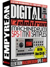 ELEKTRON SPS-1 MKII Drum Machine WAV Samples Library CD-R FREE FAST SHIPPING