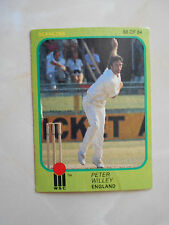 SCANLENS 1981/82 WSC CRICKET CARD - Peter Willey # 68 (Eng)