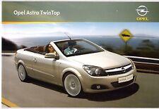 Opel Astra TwinTop 2008-09 German Market Sales Brochure Edition Cosmo