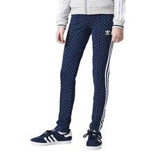 Adidas Originals Junior Girls Denim Leggings AJ0057 Dance Wear Sportswear