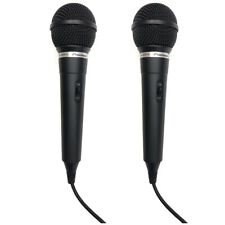 2 x Pioneer DM-DV10 Vocal Stage Performance Wired Microphone Karaoke Mic (2 pcs)