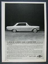 1964 Chevrolet Chevy II Nova Sport Coupe car photo vintage print Ad