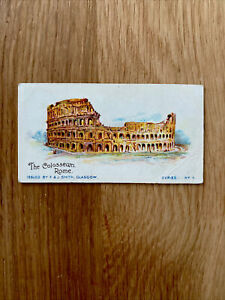 RARE F&J SMITH A TOUR ROUND THE WORLD SCRUPT BACK CIGARETTE CARD 1904 No.4
