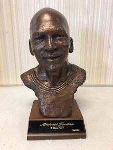 RARE Michael Jordan 5 time MVP Bronze Edition portrait statue With COA(30/2,000)