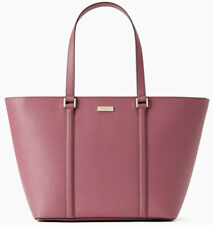 NWT Kate Spade Jules Saffiano Leather Extra Large Tote Dark Lilac Newbury Lane