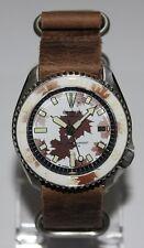 Premium SEIKO 7002-7000 Vintage Diver Watch Camo White/Brown Dial Automatic