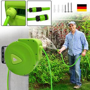Automatischer Schlauchaufroller Wasserschlauch Schlauchtrommel 20 Meter Garten