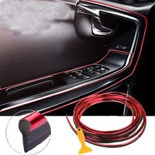 5M Chrome Red Trim Car Atuo Interior Exterior Moulding Strip Decorative Line