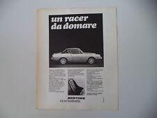 advertising Pubblicità 1968 FIAT BERTONE RACER