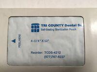 "Autoclave Self Sealing Sterilization Pouch 4.25""X12"" 400/Pack Dental Medical FDA"