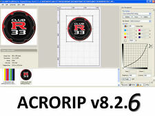 AcroRIP v8.2.6 2016!! Epson RIP DTG Software L1800/R2000/R3000/1500W/3880/4880