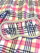 Tommy Hilfiger Sweet Dream Pink Plaid Flannel Pants and Eye Mask Size Small  $68