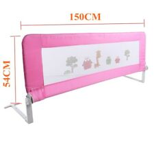 Child Toddler 150/180cm Safety Bed Rail Baby Bedrail Fold Cot Guard Protection Pink 150cm