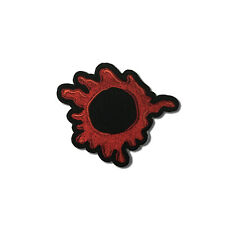 Embroidered Bullet Hole Blood Red Sew or Iron on Patch Biker Patch