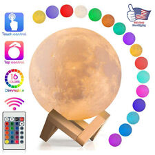 3D Remote Moon Lamp USB LED Night Light Moonlight Touch Sensor 16 Color Changing