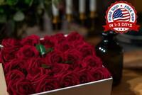 50 Rosas Roja Artificiales Ideal Para Centro De Mesa Party Boda Decoracion NUEVO