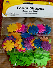 Flowers and Leave Foam Shapes Assortment Non-Toxic New