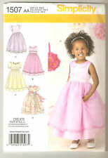 Simplicity Sewing Pattern 1507 Toddler Special Occasion Flower Girl Dress 1/2-3