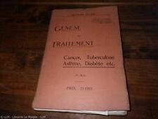 1933.Genese et traitement.Radiesthesie médecine.Cappoen Julien