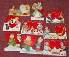 9 Larger Usa 1940s Children Valentines