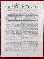 Louis 16 à Saint Cloud 1791 Docteur Cabanis Capet Bourbon Révolution Française