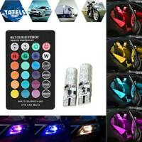 T10 W5W 5050 6SMD RGB Silica Led Error Free Canbus Led Warning Light+Contr New