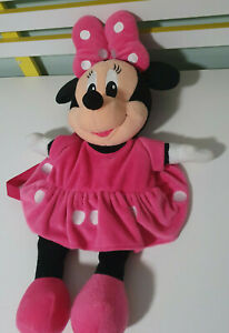 MINNIE MOUSE KIDS BACKPACK DISNEY CLASSIC PINK DRESS 50CM SHAPED AS MINNIE!